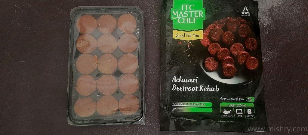 आईटीसी मास्टर शेफ अचारी बीटरूट कबाब पैकेजिंग