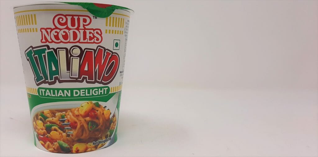 कप नूडल्स इटालियानो - पैकेजिंग