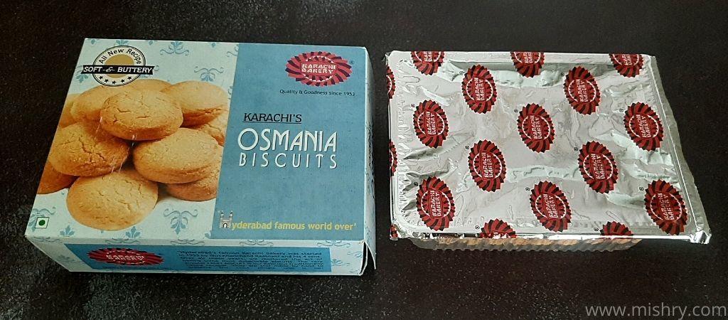 कराची बेकरी उस्मानिया बिस्किट - पैकेजिंग