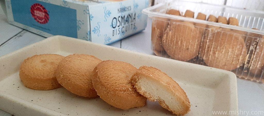 कराची बेकरी उस्मानिया बिस्किट स्वादिष्ट हैं!