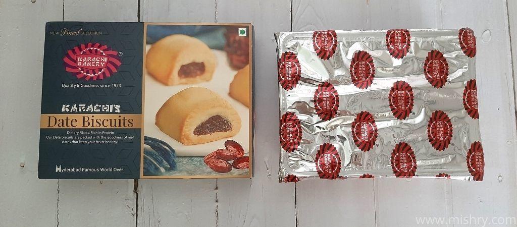 कराची बेकरी डेट बिस्किट - पैकेजिंग