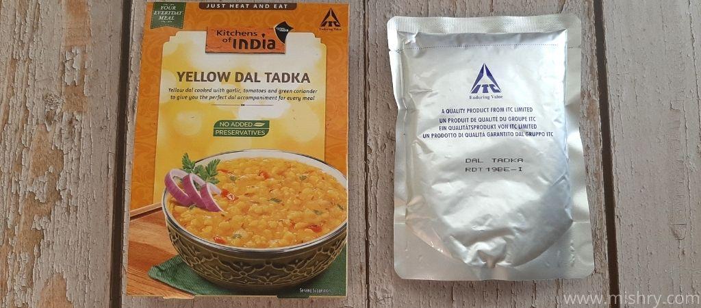 किचन ऑफ इंडिया येलो दाल तड़का - पैकेजिंग