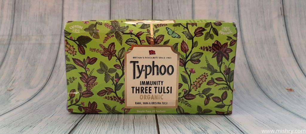टाइफू इम्यूनिटी थ्री तुलसी - पैकेजिंग