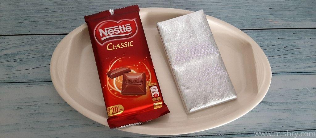 नेस्ले क्लासिक चॉकलेट बार - पैकेजिंग