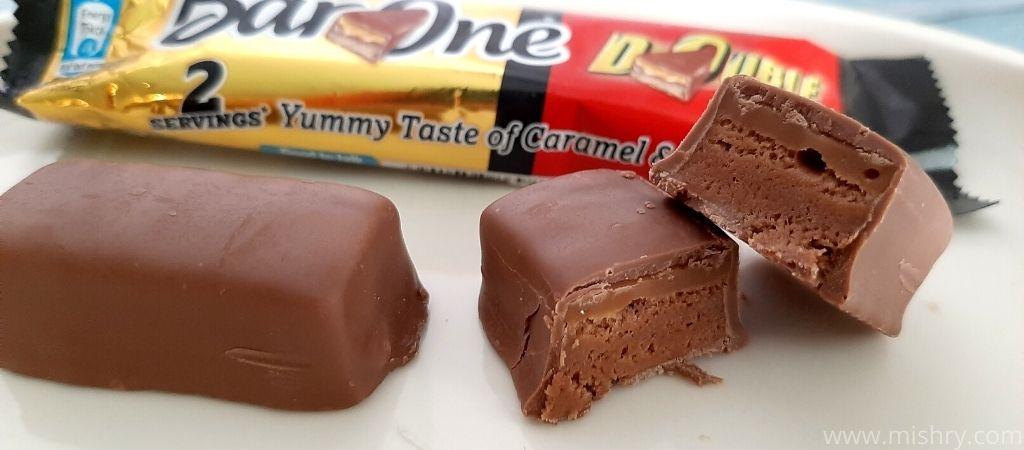 नेस्ले बार वन चॉकलेट के बीच की फिलिंग