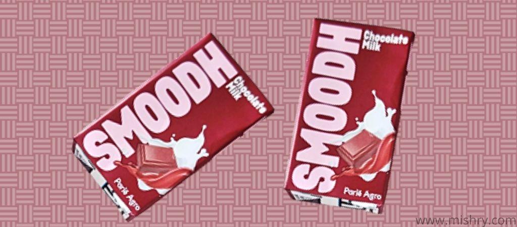 पारले एग्रो स्मूथ चॉकलेट मिल्कशेक भूरे रंग के टेट्रा पैक में आता है