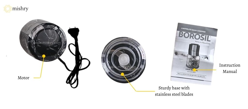 बोरोसिल शेफ डिलाइट 300- वाट इलेक्ट्रिक चॉपर - बॉक्स