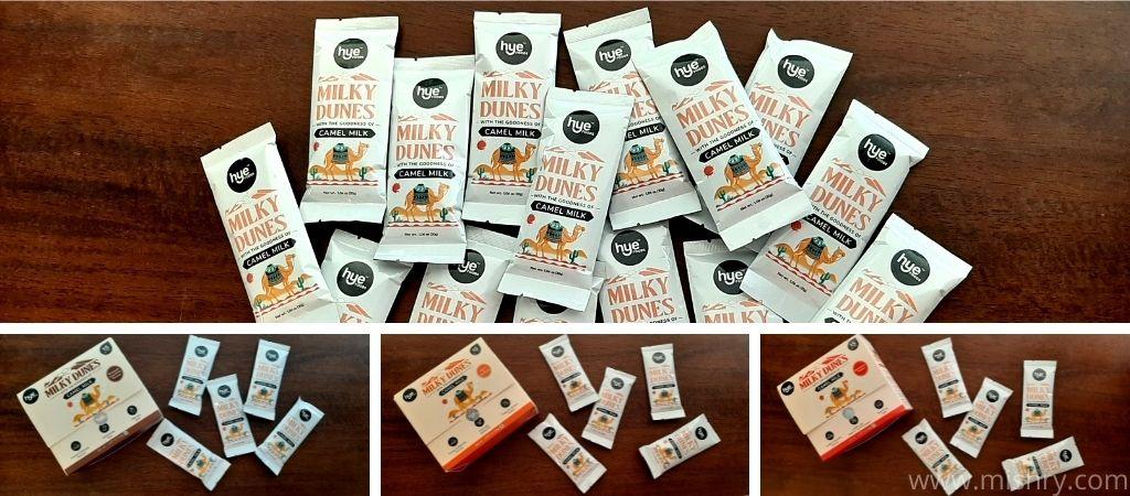 मिल्की डियून्स कैमल मिल्क पाउडर - पैकेजिंग और कीमत