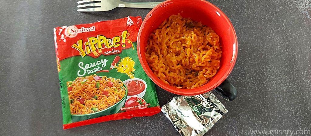 यप्पी सॉसी मसाला नूडल्स