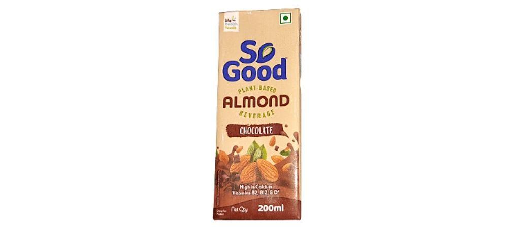 सो गुड़ चॉकलेट आलमंड मिल्क का स्वाद ताज़ा है