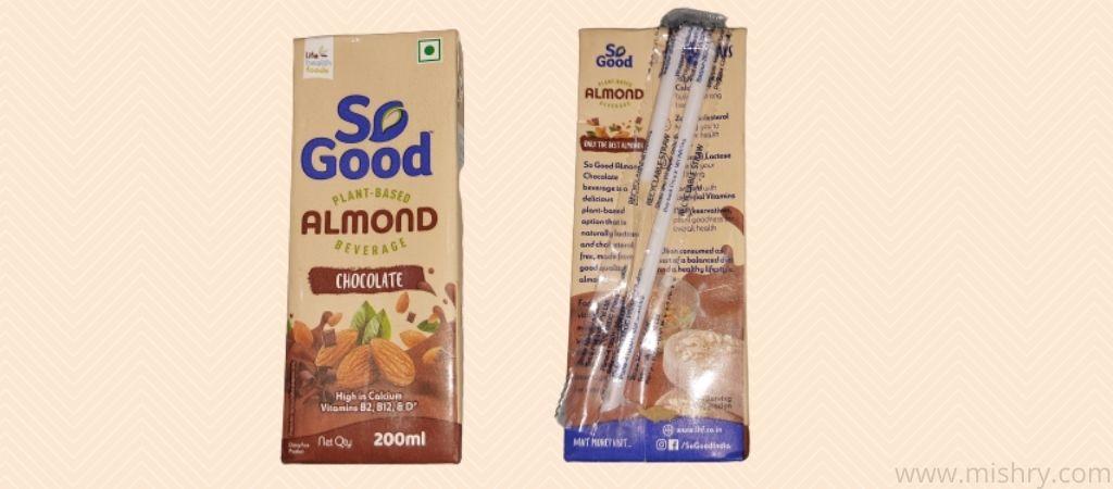 सो गुड़ चॉकलेट आलमंड मिल्क - पैकेजिंग