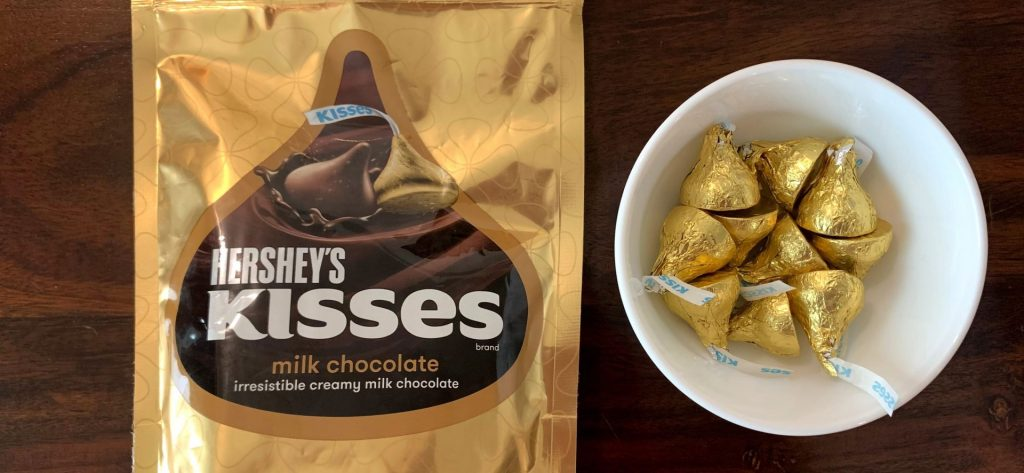 हर्षीस किस्सेस मिल्क चॉकलेट