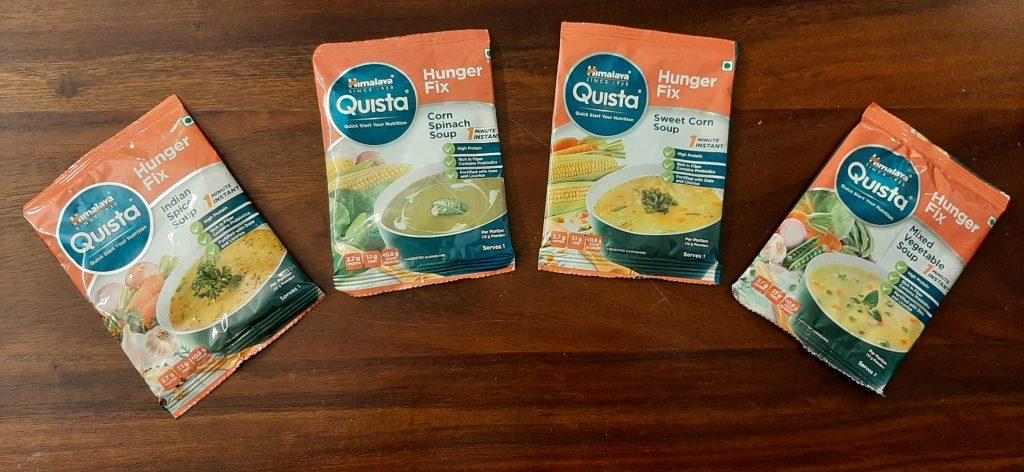 हिमालय क्विस्टा रेडीमेड सूप के हमने 4 फ्लेवर ट्राई किए हैं