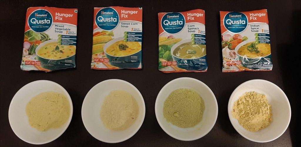 हिमालय क्विस्टा रेडीमेड सूप - सूखे मिश्रण की जांच