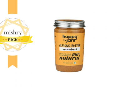 Happy Jars 100% Natural Unsweetened Almond Butter-mishry