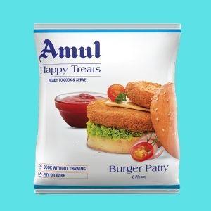 amul happy treats veg burger patty