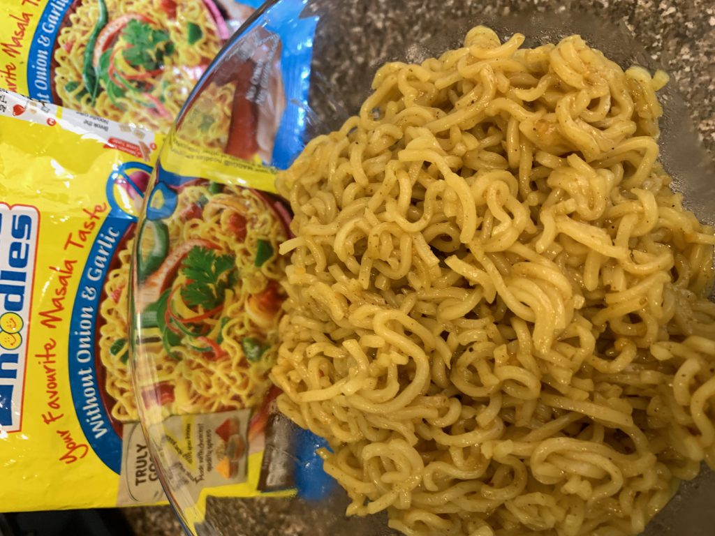 cooked maggi noodles